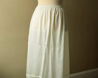 Vintage Skirt Slip with Lace