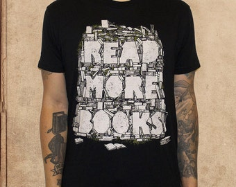 Read More Books - black - cotton - discharge inks - literature