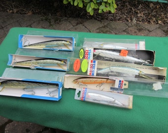 8 Vintage Rebel Fishing Lures In Boxes Never Used New Old Stock