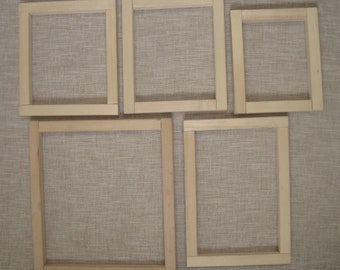 5 Wood Stretcher Bars Assorted Sizes - Needlepoint, Quilting, Stitching - Used