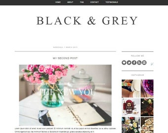 Items similar to Minimalistic, elegant and simple blogger template