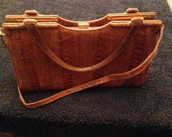 "Classic Leather ""Cape-Cobra"" Hand-bag"