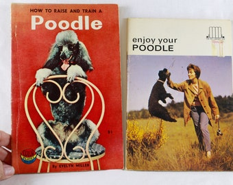 Poodle Books How To Books Vintage 1950s Poodle Lover