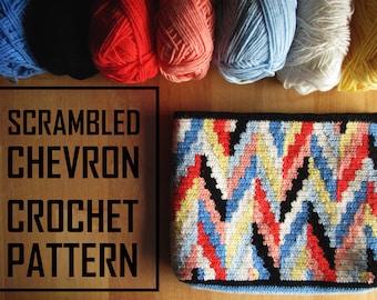 Tapestry Crochet Bag Pattern / Crochet Pouch Pattern / Modern Crochet Bag / Geometric Crochet Bag / Tapestry Crochet Bag/ Cosmetic Bag/Wayuu