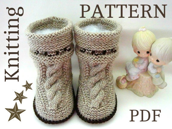 Knitting Pattern Baby Uggs Instruction Pattern Baby