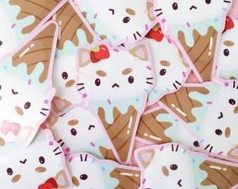 Cute Puppycat Pastel Ice Cream Cone
