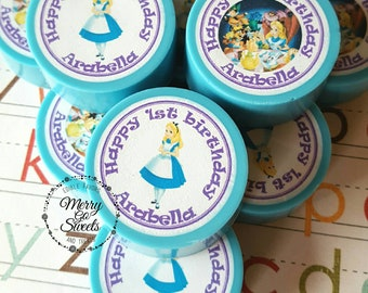 Alice in Wonderland // Edible Image Chocolate Covered Oreos // Edible Favors // Wonderland Birthday favors // edible favors // oreo favors