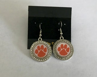 Clemson tigers drop earrings