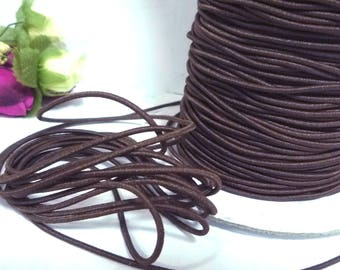 10 yd /9 meters Brown Drawcord Round Drawstring Elastic Cord Rope 1.5mm width ET23