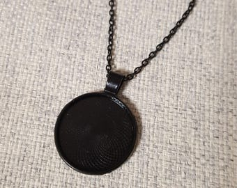 1 necklace 60cm ring 25mm gunmetal only
