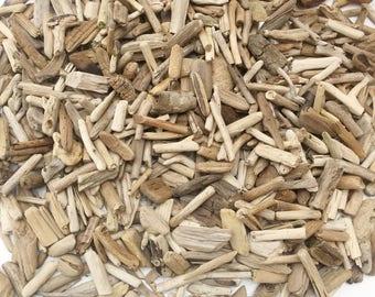 500 small 1-2 inches driftwood pieces wedding table  decor,  bulk drift wood lot, DIY mini driftwood,