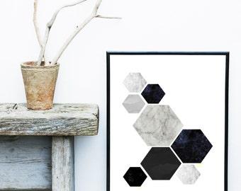 Scandinavian Print, Geometric Poster, Abstract Art Print, Art Print, Giclee print, Modern Wall Art,  Large Wall Print, Abstract Art