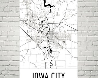 Iowa city map Etsy