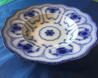Very Rare 1903 Antique Grindley Beaufort Flow Blue Salad Plate Porcelain Made in England Discontinued 1903 Exc Cond