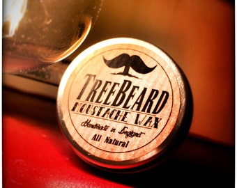 Moustache Wax by TreeBeard, all natural, donation to Movember Charity with every purchase