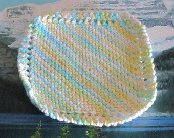 KDC 005 Hand knit dish cloth 6 by 6.5