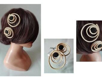 hair barrette, Haarspange hair clip, fascinator, hair clip