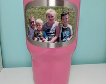 Yeti 30oz with 1 Photo on the front and up to 3 words on the back...Personalized with your picture for the perfect gift