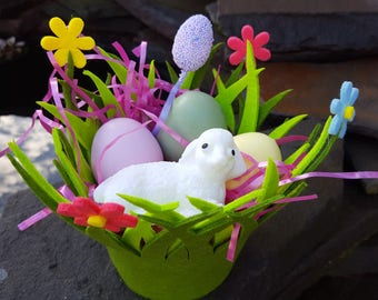 Easter Lamb Soap Basket - Spring Soap- Lamb - Easter Eggs - Vegan Soap - holiday