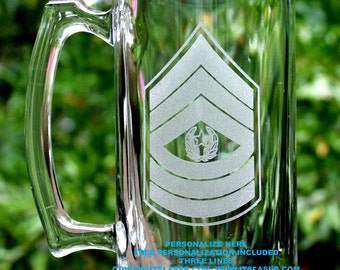 Personalized Army Command Sergeant Major Beer Mug Custom Military Gift, 27.25oz