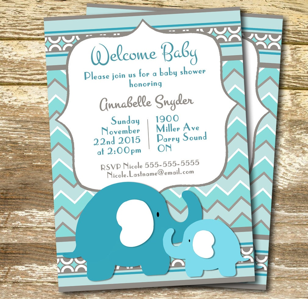 Baby Shower Invitation Boy Blue Baby Shower Invitation Blue