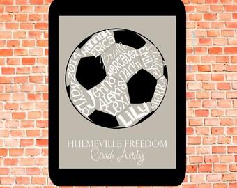 Soccer Ball... Typography Art
