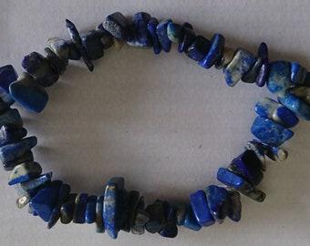 Lapis Lazuli Chip Crystal Stretch Bracelet