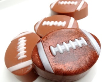 FOOTBALL SOAPS - Football Time - For Him - Sport Soaps - Soap Party Favors - Custom Scented