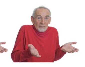 Shrugging man meme stickers