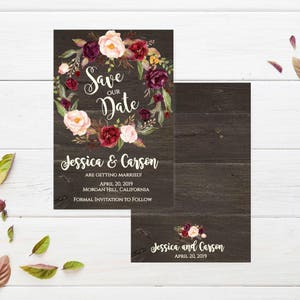 Cheap save the date | Etsy