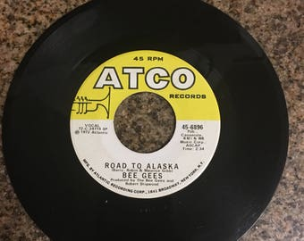 Bee Gees Vintage 45 Record - Run to Me / Road to Alaska