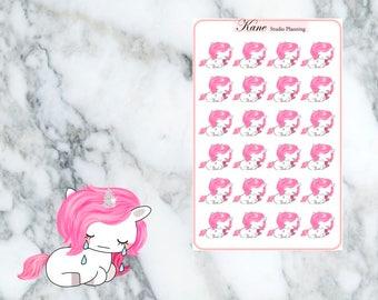 Sad Unicorn Planner Stickers