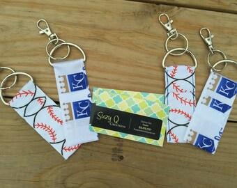 Royals/Baseball Chapstick Holder Keychain