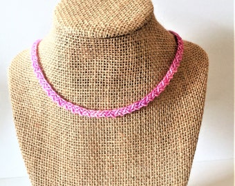 Pink chain necklace / 20 inches