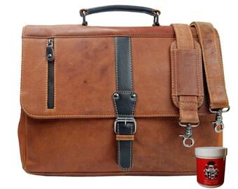 Briefcase HERTZSPRUNG for Mens of Scottish-leather - BARON of MALTZAHN