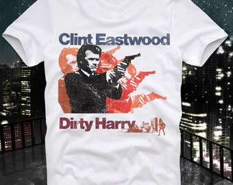 Dirty Harry Clint Eastwood Action Make My Day Cult Movie Retro Vintage T Shirt Tee