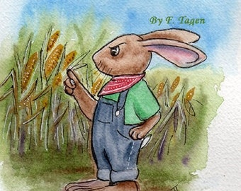 Fairy Tales for Young and Old 'The Ghost in the Cornfield' by F. Tagen illustrated by DogNose artist. E-book.