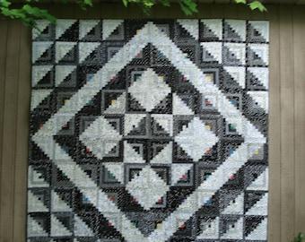 Starring Log Cabin Quilt Pattern