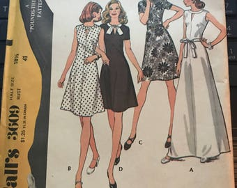 Vintage 60s McCall's 3609 Dress Pattern-Size 18 1/2 (41-35-43)