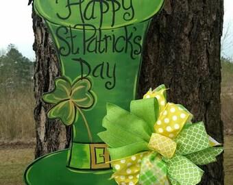St. Patrick's Day door hanger, St. Paddy's Day, March door hanger, Spring