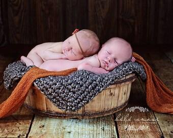 newborn Photo Prop Chunky Mini Blanket Photography Prop Basket Filler Basket Stuffer Bucket Pick your color