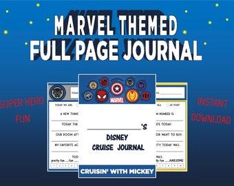 PRINTABLE Marvel Themed Disney Cruise Journal PDF