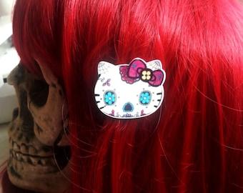 Clip hair Cat Head Zombie Cat ♥ ♥ ♥ ♥