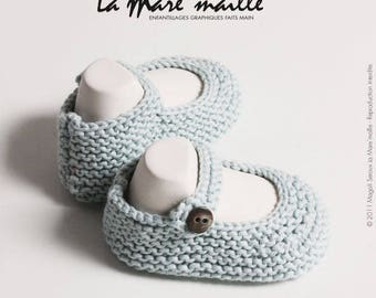 Baby Blue organic cotton knit the Mare' mesh