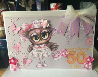 Birthday wishes card/21st/50th/18th/mothers day