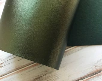 Metallic Felt Fabric Sheet - Evergreen Metallic Felt - 12x17 - Bold and Shimmery - Metallic Green