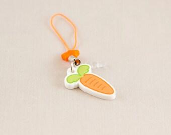 Acrylic key or phone charm - Carrot