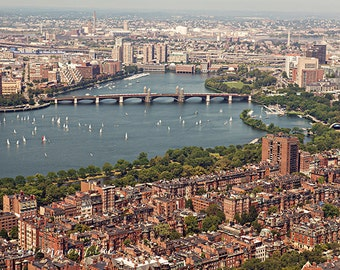 boston photography, travel photography, back bay, charles river, cambridge, boston print, boston photo / boston / 8x10 fine art photography