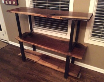 The Triple Decker- Black Walnut Storage or Shelving Unity- great for books, TVs, etc..