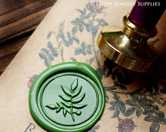 Buy 1 Get 1 Free - Wax Seal Stamp - 1pcs Leaf Metal Stamp / Wedding Wax Seal Stamp / Sealing Wax Stamp (WS121)